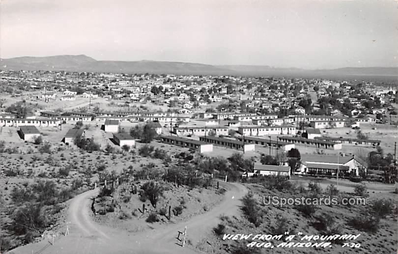 View from A Mountain - Ajo, Arizona AZ Postcard