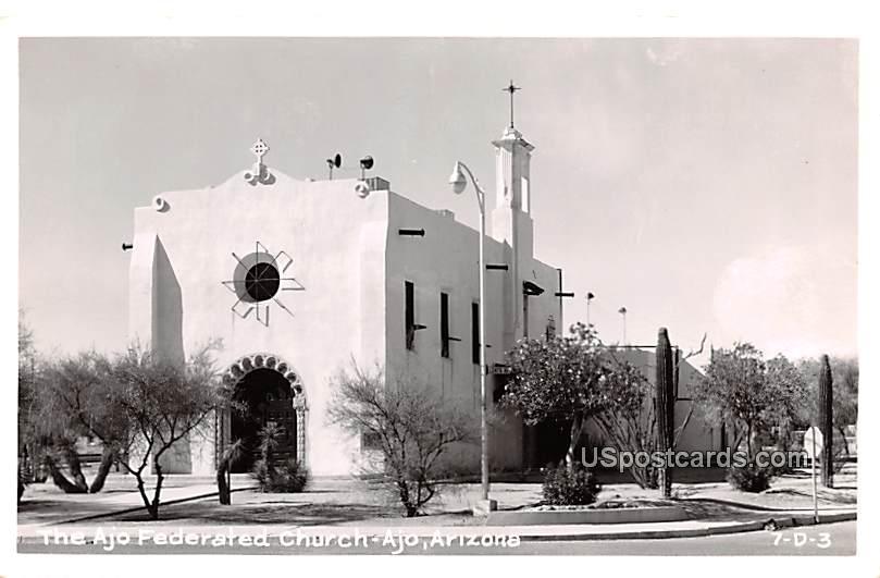 Ajo Federated Church - Arizona AZ Postcard
