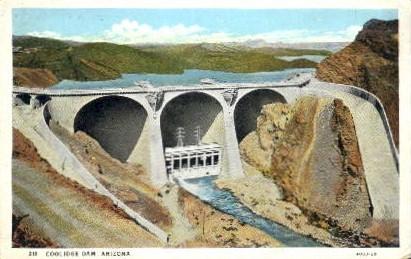 Coolidge Dam - Arizona AZ Postcard