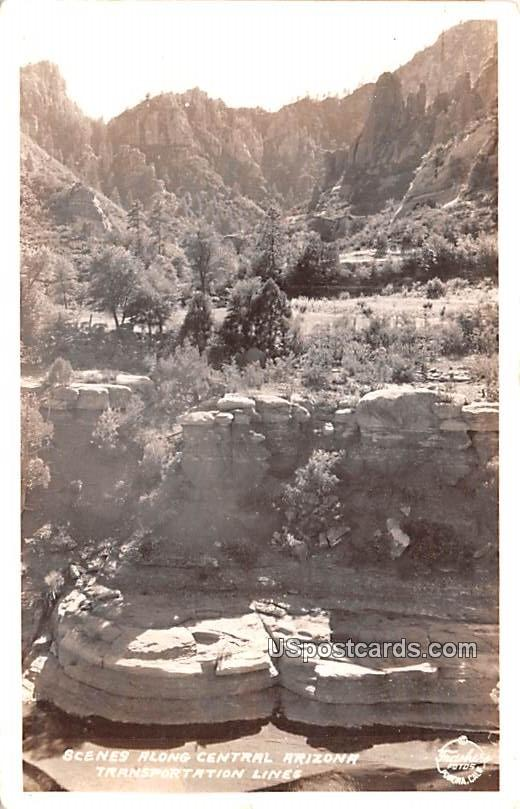 Scenes along Central Arizona - Coolidge Postcard