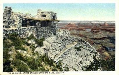 The Lookout - Grand Canyon National Park, Arizona AZ Postcard