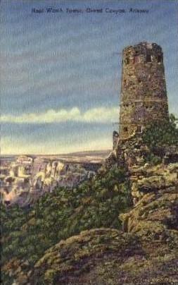 Hopi Watch Tower - Grand Canyon National Park, Arizona AZ Postcard