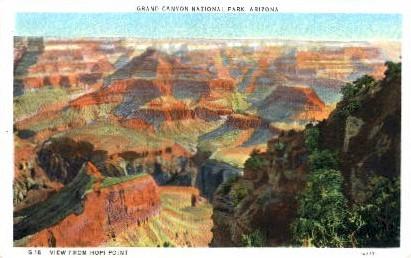 View from Hopi Point - Grand Canyon National Park, Arizona AZ Postcard