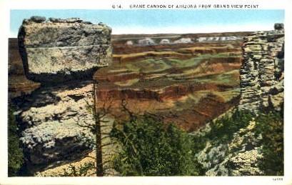 Grand View Point - Grand Canyon National Park, Arizona AZ Postcard