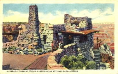 The Lookout Studio - Grand Canyon National Park, Arizona AZ Postcard