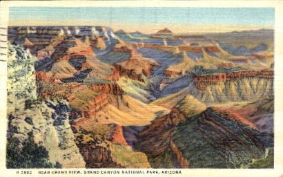 Near Grand View - Grand Canyon National Park, Arizona AZ Postcard