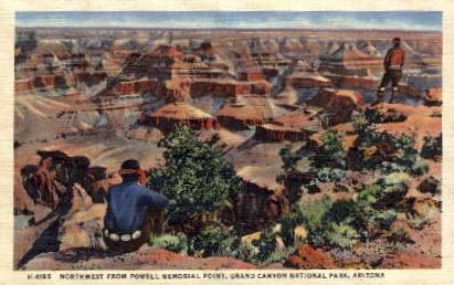 Powell's Memorial Point - Grand Canyon National Park, Arizona AZ Postcard