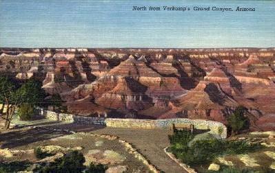 North from Verkamp's  - Grand Canyon National Park, Arizona AZ Postcard
