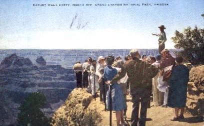 Nature Walk Party - Grand Canyon National Park, Arizona AZ Postcard