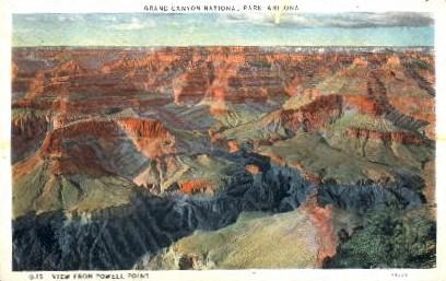 Powell's Point - Grand Canyon National Park, Arizona AZ Postcard