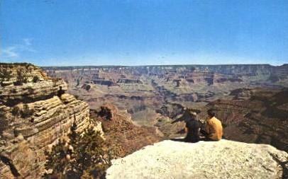 Bright Angel Overlook - Grand Canyon National Park, Arizona AZ Postcard