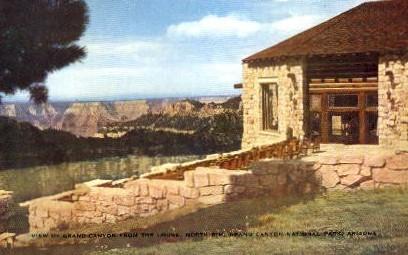 From the Lodge - Grand Canyon National Park, Arizona AZ Postcard