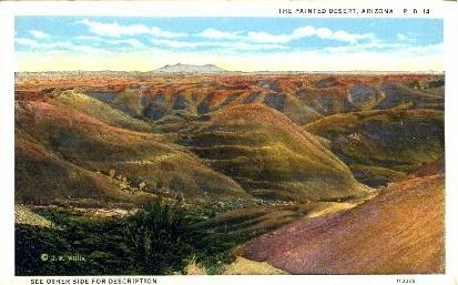 The Painted Desert - Grand Canyon National Park, Arizona AZ Postcard