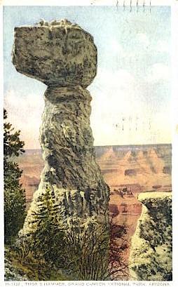 Thor's Hammer - Grand Canyon National Park, Arizona AZ Postcard