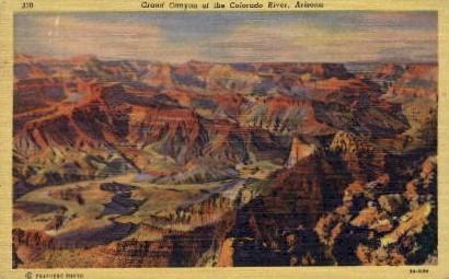 The Colorado River - Grand Canyon National Park, Arizona AZ Postcard