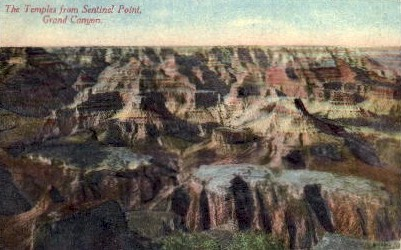 the Temples from Sentinel Point - Grand Canyon National Park, Arizona AZ Postcard