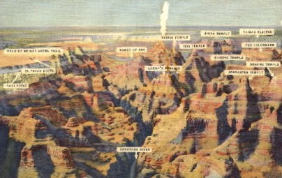 Air View - Grand Canyon National Park, Arizona AZ Postcard