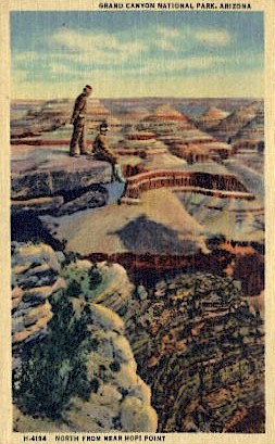 North from Hopi Point - Grand Canyon National Park, Arizona AZ Postcard