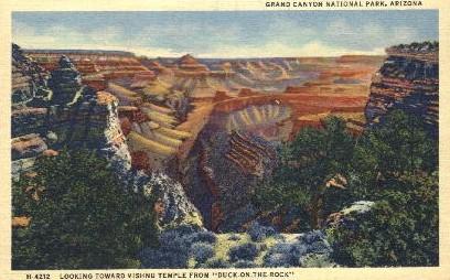 Vishnu Temple - Grand Canyon National Park, Arizona AZ Postcard