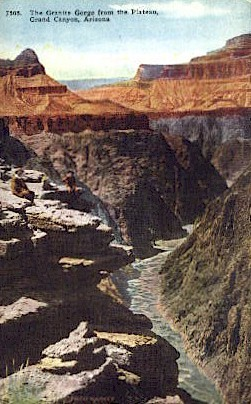 The Granite Gorge - Grand Canyon National Park, Arizona AZ Postcard