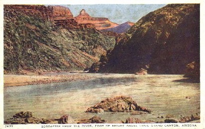 Zoroaster from the River - Grand Canyon National Park, Arizona AZ Postcard