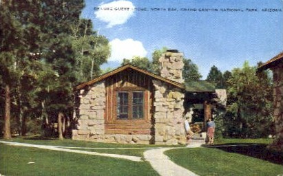 Deluxe Guest Lodge - Grand Canyon National Park, Arizona AZ Postcard