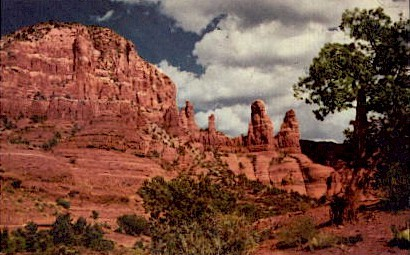 Red Rock Formations - Misc, Arizona AZ Postcard