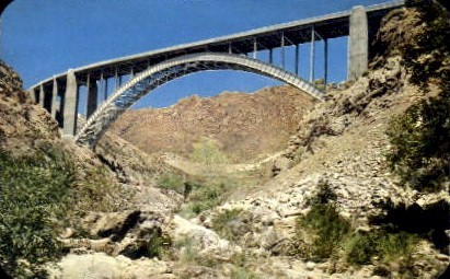 Queen Creek Bridge - Misc, Arizona AZ Postcard