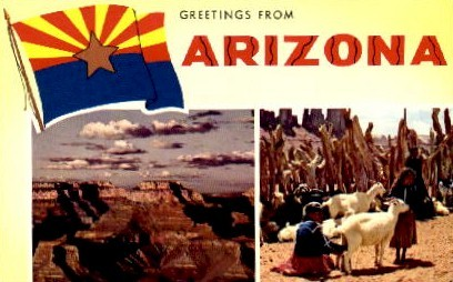Greetings From - Misc, Arizona AZ Postcard
