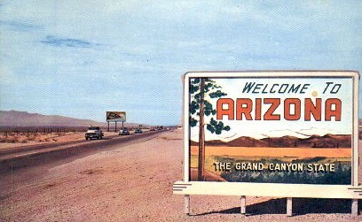 Welcome To - Misc, Arizona AZ Postcard