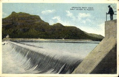 Granite Reef Dam - Misc, Arizona AZ Postcard