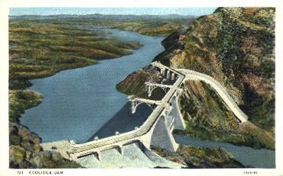 Coolidge Dam - Misc, Arizona AZ Postcard
