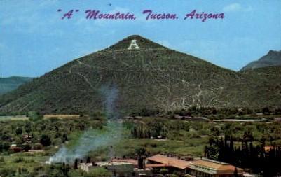 A Mountain - Tuscon, Arizona AZ Postcard