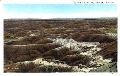 The Painted Desert - Holbrook, Arizona AZ Postcard