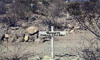 Grave of Margarita - Tombstone, Arizona AZ Postcard