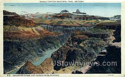 Colorado River & Gorge - Grand Canyon National Park, Arizona AZ Postcard