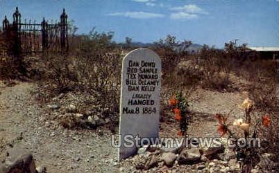 Graves of Dowd - Tombstone, Arizona AZ Postcard