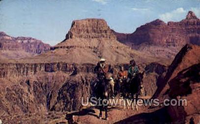 Mule Train of Kaibab Trail - Grand Canyon National Park, Arizona AZ Postcard