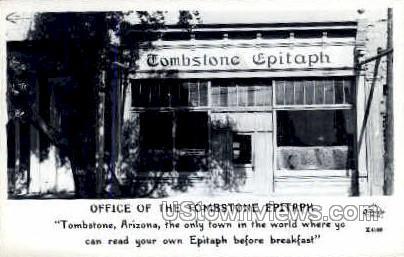 Tombstone Epitaph - Arizona AZ Postcard