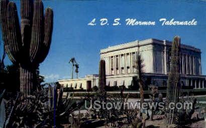 L.D.S. Mormon Tabernacle - Mesa, Arizona AZ Postcard
