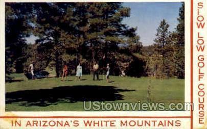 Show Low Golf Course - White Mountains, Arizona AZ Postcard