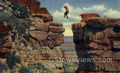 Leap for Life - Grand Canyon National Park, Arizona AZ Postcard