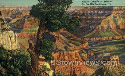Grand Canyon - Grand Canyon National Park, Arizona AZ Postcard