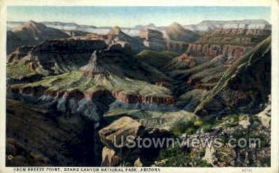 Breeze Point - Grand Canyon National Park, Arizona AZ Postcard