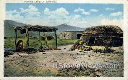 Indian Life - Misc, Arizona AZ Postcard