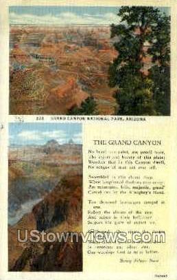 Grand Canyon National Park, AZ, Arizona Postcard