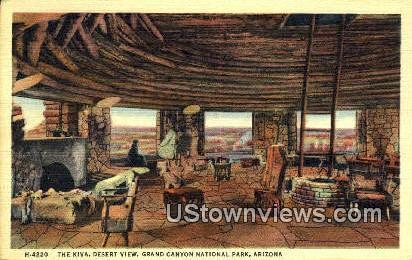 The Kiva - Grand Canyon National Park, Arizona AZ Postcard