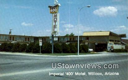 Imperial 400 Motel - Willcox, Arizona AZ Postcard