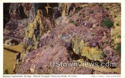 Kaibab Suspension Bridge - Grand Canyon National Park, Arizona AZ Postcard