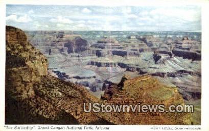The Battleship - Grand Canyon National Park, Arizona AZ Postcard